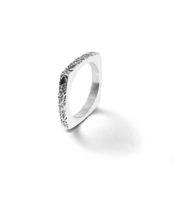 Alliance carrée argent Laura Guitte Jewellery