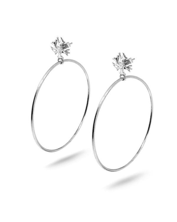 Silver Lichen Hoops Laura Guitte Jewellery