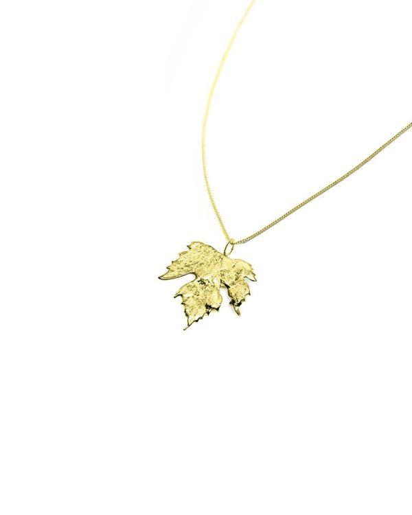 Collier or feuille de vigne bijouterie Lyon