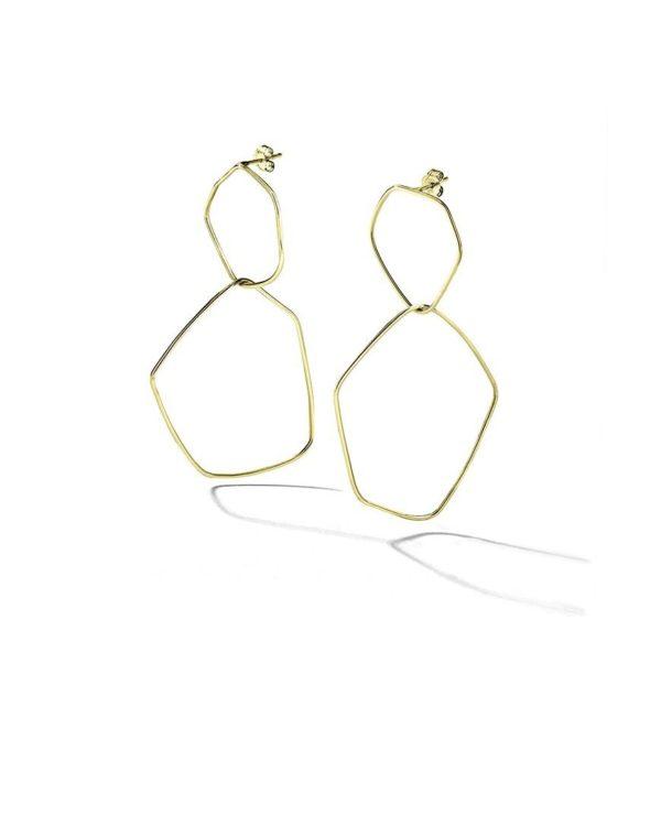 Bijouterie Lyon bijoux créateurs boucles d'oreilles plaquées or géométriques