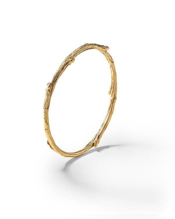 Bracelet jonc or brindille bijouterie Lyon Laura Guitte